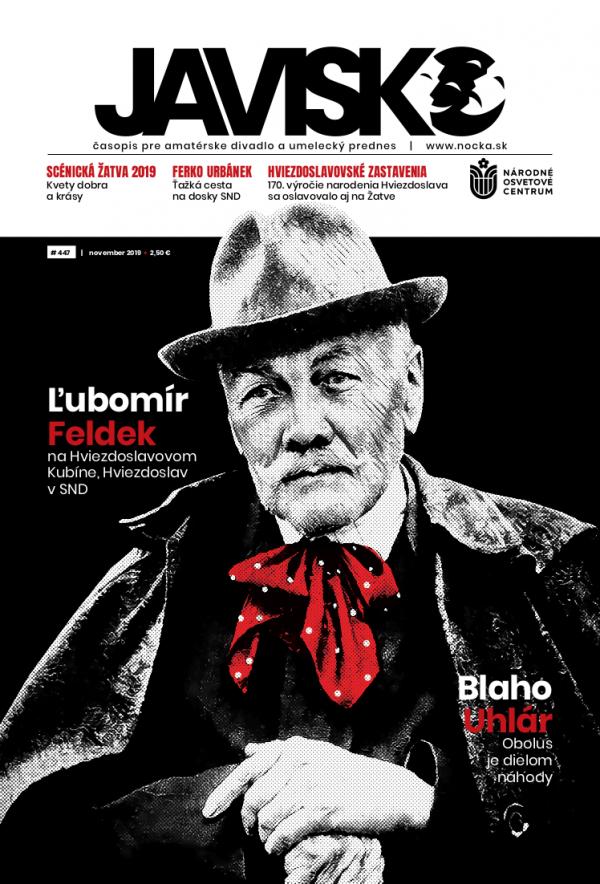 Časopis Javisko, č. 2019/november - titulka