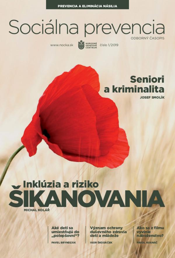 Časopis Sociálna prevencia, č. 2019/01 - titulka