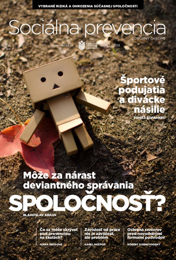 Časopis Sociálna prevencia, č. 2019/02 - titulka