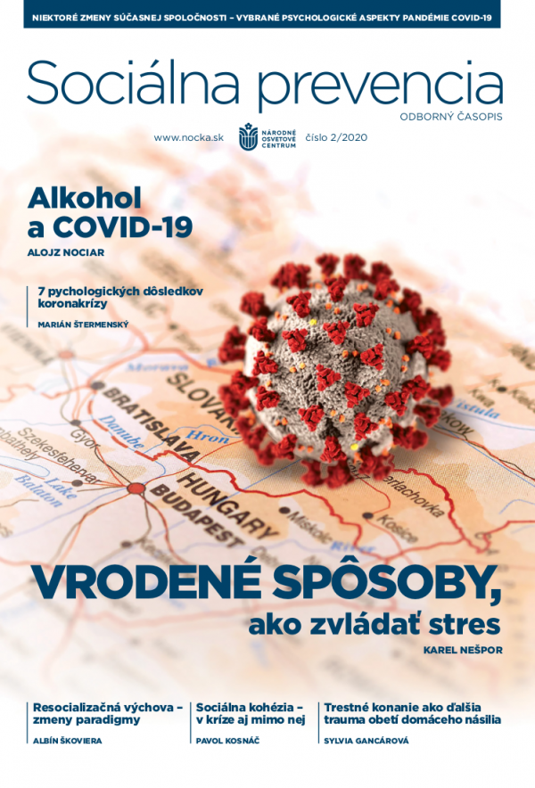 Časopis Sociálna prevencia, č. 2020/02 - titulka