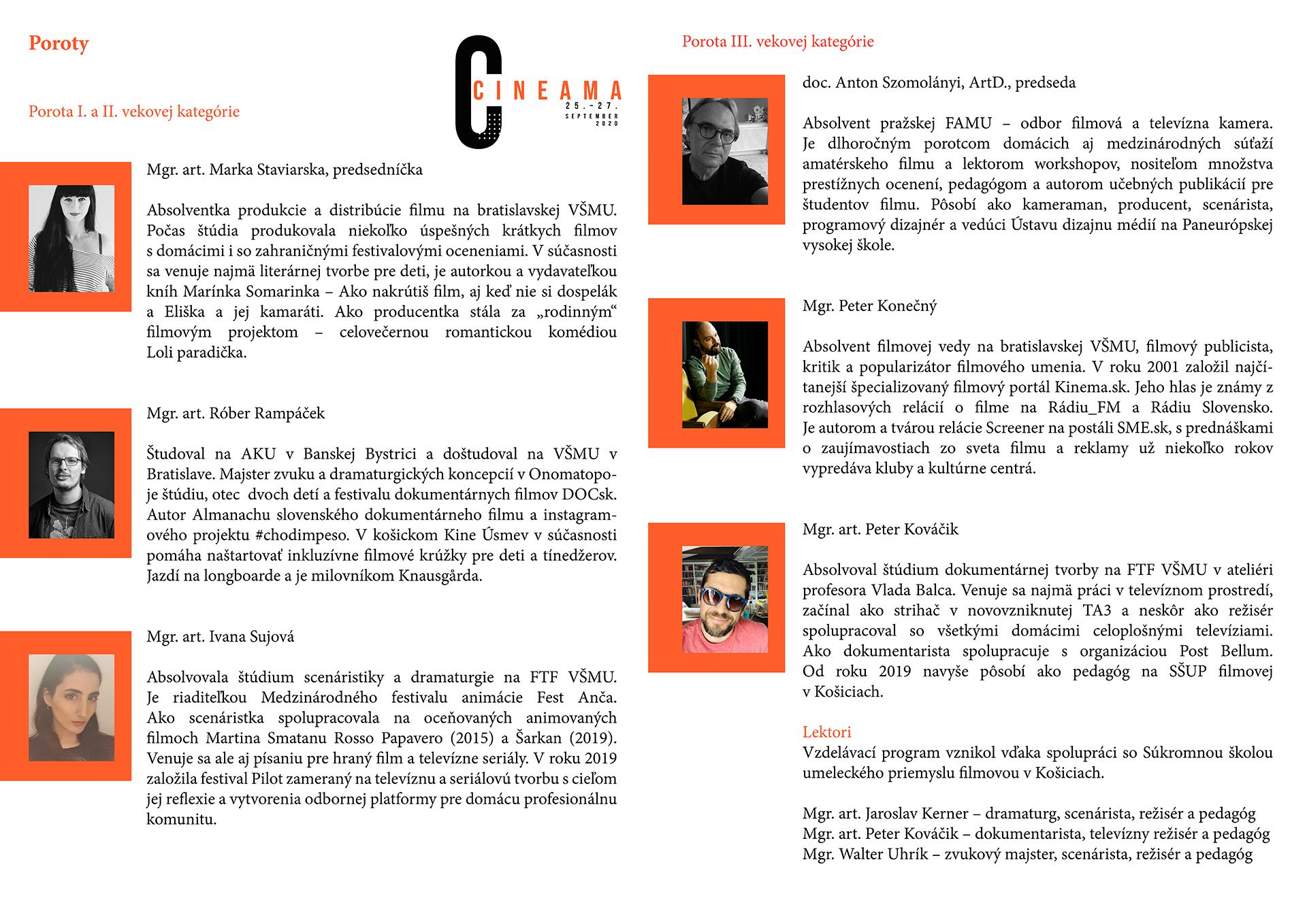 CINEAMA 2020 - poroty